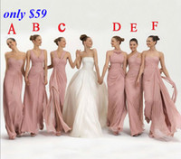 2015 Hot Sell Cheap Bridesmaid Dresses Six Style Long Ruffle...