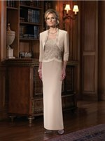 Hot 2015 Dignifine Champagne Sheath Mother Of The Bride Dres...