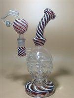 Le plus nouveau bong de verre de couleur 9 pouces de verre élevé Faberge Oeufs tubes d'eau bongs en verre avec le cage d'oiseau perc 14.5mm Livraison gratuite