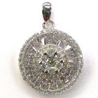 Pendentif Miniature Pendentif CZ cristal blanc avec Rodium pendentifs en cuivre gros Bijoux Fashion Bijoux SET82831PW