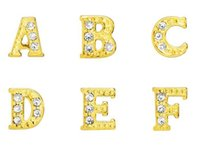 (26, 52, 130)PCS lot gold plated rhinetones letters A - Z al...