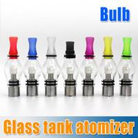 Vente chaude! 8 couleurs Cire Glass Globe réservoir à sec Herb Vaporisateur Clearomizer 4,0 ml d'atomiseur pour eGo t, l'ego c torsion, la vision de la batterie 2 spinner e-cig