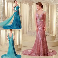 Luxury Shimmering Sequined Lace Mermaid Pageant Dresses For ...