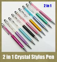 écriture stylo capacitif stylo cristal stylet en forme multi-fonction pour l'écran coloré stylo toucher moins cher STY007 HTC iphone ipad BlacBerry