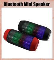 Portable Mini sans fil boîte de chicane Pulse Bluetooth Speaker, la lumière du subwoofer Subwoofers Bluetooth haut-parleur LED FM NFC / USB / TF OTH012
