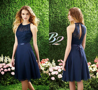 Hot Cheap Short Lace Chiffon Bridesmaid Dresses Under 100 20...