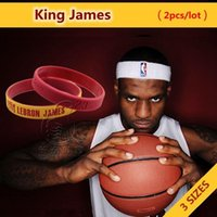 100 pcs lot LeBron James King #23 Sport Wristband Set, Free ...