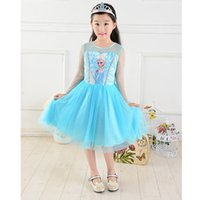 summer 2014 party princess clothes costume lace long blue ki...
