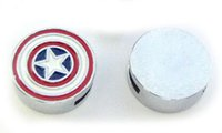 (20 , 50)PCS lot 8MM Captain America Slide Charms DIY Alloy ...
