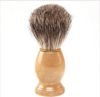 Professional barber hair shaving Razor brushes New Wood Hand...