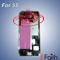 Pour la couleur de l'iPhone 5S Couverture arrière du boîtier de la batterie avec cadre intermédiaire avec accessoires Livraison gratuite