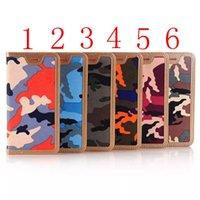 Cas d'iphone camouflage pour iphone6plus iphone6s iphone 7 / 7plus case tpu Housse en cuir Housse porte carte de crédit pochette trésorerie Cadre photo
