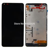 Grossiste-Pour Nokia N640 Lumia 640 Lcd écran Douch écran avec numériseur Assemblée + cadre noir