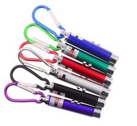Multi- functional Mini 3 in1 LED Laser Light Pointer Key Chai...