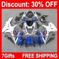 7gifts Blue white Full Fairing Kit For SUZUKI GSX- R750 11- 12...