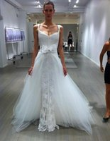 2015 Wedding Dresses with Detachable Train Beach Wedding Dre...
