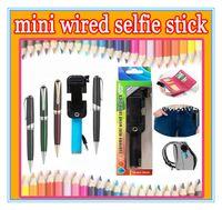 the smallest pen pocket Foldable Portable Handheld monopod m...