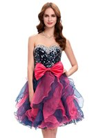 Grace Karin Stock Strapless Organza Bridesmaids Dress Short ...