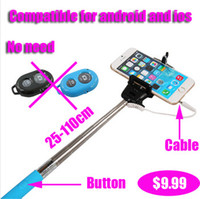 Z07- 5 plus Extendable Handheld Monopod Audio cable wired Sel...