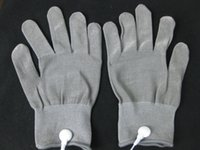 Conductive Electrode Gloves Body Relax Massager Reuse Physio...