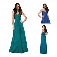 2015 Sweetheart Bridesmaid Dress Cheap In Stock Long Pleats ...