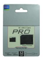 10 Tarjeta UHS-1 TF + Adaptador SD nueva PRO de 32 GB Micro SDHC Clase tarjeta SD Con paquete al por menor del envío libre de la gota de envío