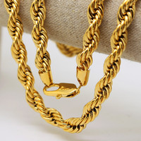 High quality 100% 24K Gold plated 76cm Long Cuba chain Twist...