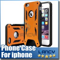 Caseology Hybrid 2in1 Rugged Shockproof Defender Armor PC TPU Hard Cover Étui pour iphone 6 plus iphone6 ​​i6 Étuis de téléphone cellulaire