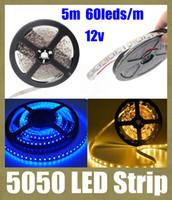 La bande LED Light 5050 a conduit bande SMD 5050 conduit Strip RVB 5050 imperméable LED RGB de bande de lumière LED de Noël adapter utilisation extérieure de lumière de bande DT014