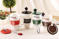 10 pcs lot High Quality Starbucks ceramic coffee cup, 4 colo...