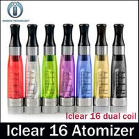 Innokin iClear 16 atomizador clon bobina dual 2.0ohm atomizador reemplazable cabeza 1.6ml capacidad tanque fit 510 eGo Thread batería