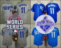 Free shipping Mens Kansas City Royals shirt 11 Jeremy Guthri...