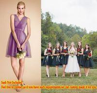 2015 Light Purple Short Bridesmaid Dresses Cheap Under 90$ F...