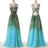 Grace Karin Leopard Peacock Long Maxi Dress Evening Gown Pro...