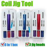 vente chaude Maître Coil Jig 6 Taille dans une Kuro Concepts Kit d'enroulement de fil de machine-outil Koiler pour cig cigarette RDA Pré Coil Winding Wick DHL