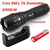 UltraFire E17 Факелы CREE XM-L T6 LED 2000 люмен Масштабируемые высокой мощности Flashrglight факел 18650 Увеличить ААА лампы Light + 1 * батарея + зарядное устройство 1 *