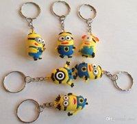 DHL gratuits 600pcs 3.5cm pvc Cadeaux Clés Chain Porte-clés enfants 2015 3D Despicable Me2 Minions Action Figure Keychain Porte-clés Porte-clés 3.5cm
