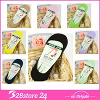 Women Silicon Anti- chafe Sock Slippers Invisible Socks Bambo...