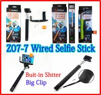 Z07- 7 Wired Monopod Audio Cable Wired Selfie Stick Extendabl...