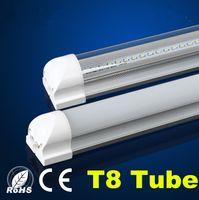 Светодиодные трубки огни 8ft 6 футов 5 футов 4 фута Встроенный трубки T8 свет SMD2835 110lm / W Высокая яркость Матовый Прозрачный чехол AC 85-265V флуоресцентный свет