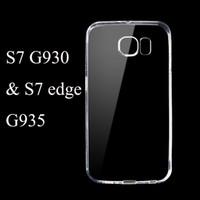 Pour Galaxy S7 G930 / G935 bord S7 S6 Top qualité Ultra Cases mince transparente Effacer TPU Gel Téléphone Soft Cell Back Cover Case