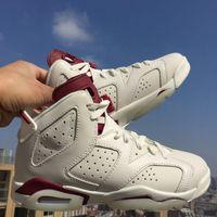 2016 New Brand Maroon retro 6 Basketball shoes, Free Shipping...