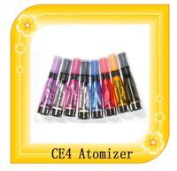 CE4 atomizador cigarrillo electrónico 8 colores EGO CE4 Clearomizer 1,6 ml 1,8 OHM 4 mechas de vapor para Ego T EGO Twist
