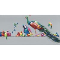 Мультфильм животных Ручная роспись маслом на холсте Mural Art Drawing Мода для офиса Гостиная Спальня украшения стены
