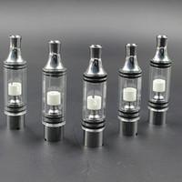 VHIT verre atomiseur pour Wax sec Herb CIGS E Vaporisateur Réservoir avec Tube droit Drip Conseils Céramique Métal Coil ATB020