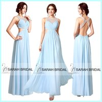 Rosie Huntington Whiteley Sky Blue Evening Dresses Beaded Sh...