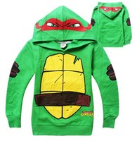 Girls Tshirts Long Sleeve Hood With Eyes Cartoon Turtle Chil...