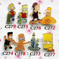 10 different style popular cartoon acrylic brooch cool badge...