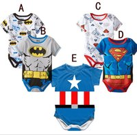 Baby Clothes Boys Bat Man One- piece Girls Superman Rompers 2...