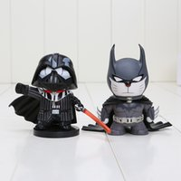 "4"" 10cm Doraemon Cos Batman Darth Vader Star Wars Aveng..."
